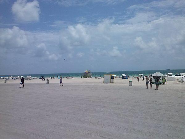 Place de South Beach, Floride.