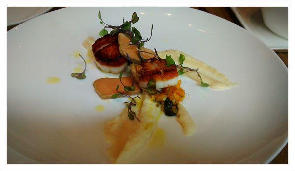 Pétoncles et foie gras!