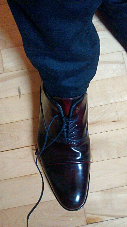Même après plusieurs kilomètres de marche avec pluie et boue, les chaussures restent belles!