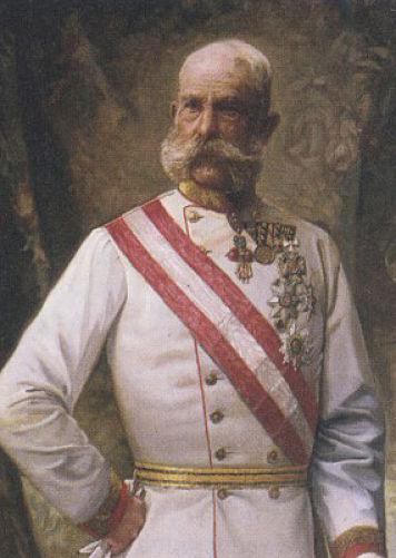 François-Joseph 1er arborant fièrement la moustache.
