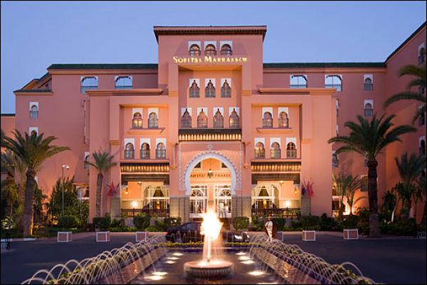 Le Sofitel Marrakech, un complexe hôtelier superbe.